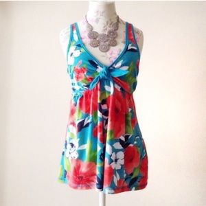 Hollister Hawaiian Luau Floral Top